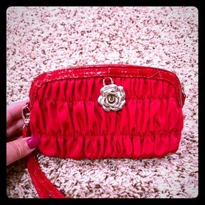 Brighton BNWOT wristlet red with detailing